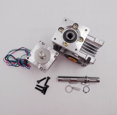 NMRV030 Ratio 30:1 NEMA23 Worm Gear Stepper Motor Speed Reducer 4.2A CNC