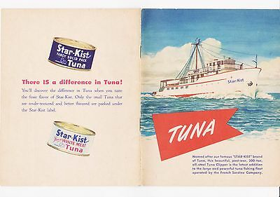 RARE 1940s POST WWII ERA STAR-KIST TUNA ADVERTISING AND RECIPE BOOK - COLORFUL