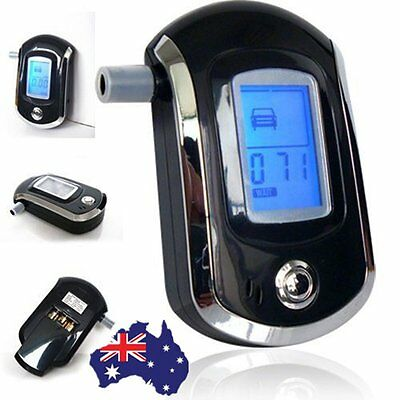 New Black Police Digital Breath Alcohol Analyzer Tester Breathalyzer test LCD XH