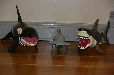 Chap Mei Orca Killer Whale Action Figure, great white shark & w/Closing Jaw