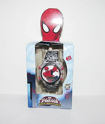Ultimate Spider-Man Web-Warriors Flashing lights LCD Watch Perfect gift