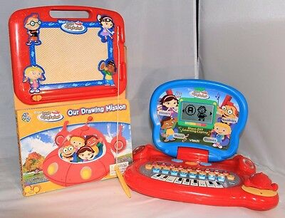 Disney Little Einsteins Blast Off Laptop & Our Drawing Mission Magnetic Pen Book