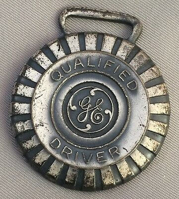 Original Vintage GE General Electric Qualified Driver TIRE Advertising WATCH FOB
