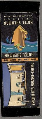 HOTEL SHERMAN CHICAGO ILL. IL. Matchbook 276
