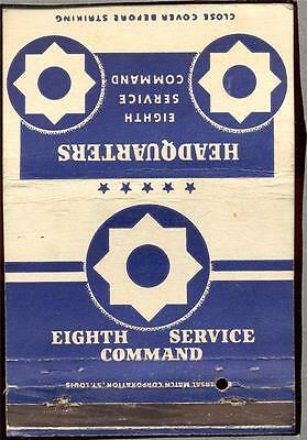 HEADQUARTERS EIGHTH SERVICE COMMAND  Matchbook 305