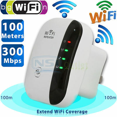 300Mbps Wireless-N WiFi Repeater AP Router Range Signal Extender Booster 802.11