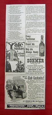 Vintage Ad For Runnymede Club Whisky, Evans' Ale, Sohmer Pianos & More