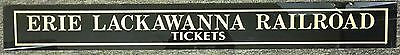 Erie Lackawanna Rr Railroad Train Ticket Booth Thick Glass Sign