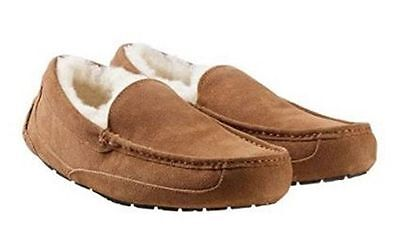 NEW Kirkland Signature Men's CHESTNUT BROWN Shearling Lined Slippers PICK SIZE