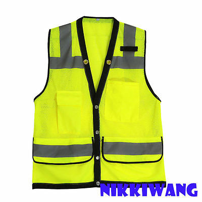 High Visibility Breathable Safety Reflective Vest Night Cycling Running Walking