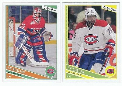 2013/14 O-Pee-Chee Opc Montreal Canadiens Team Set 17 Cards Price Roy +++