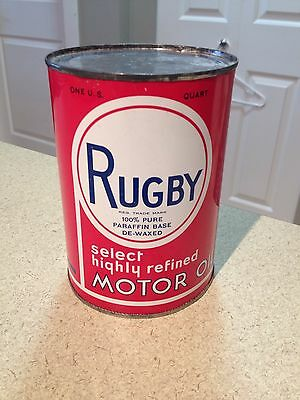 Rugby Motor Oil Can 1 US Quart Vintage collectible Pennsylvania PA