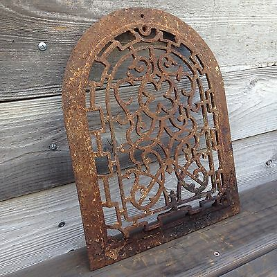 Antique Arch Top Cast Iron Heat Grate ~ Vintage Heat Vent