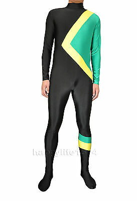 Kid Adult Fancy Dress Sport Stag Party Jamaican Bobsleigh Team Bobsled Costume
