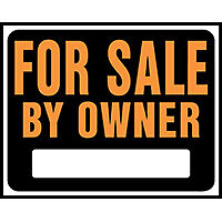 SIGN FOR SALE BY OWNER JUMBO   per 5 EA