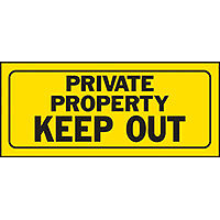 SIGN PRIVATE PROPERTY KEEP OUT per 5 EA