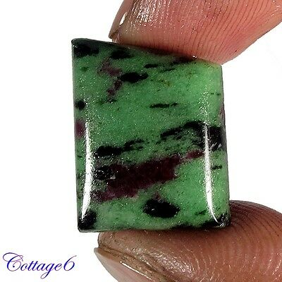 18.41Cts. ROYAL!! NATURAL RUBY ZOISITE FANCY CABOCHON LOOSE GEMSTONE
