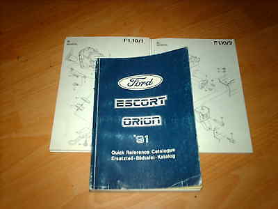 Ford Parts Catalogue Escort mk5 mk V  inc Cabriolet, RS, Estate Van Orion