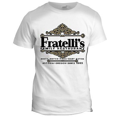 Fratelli's Restaurant Inspired The Goonies 80s Retro Italian Movie Film T Shirt