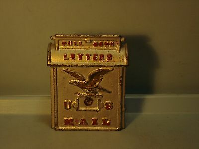 """U.S.Mail"" with Eagle Cast Iron Bank  4 1/8"" Kenton 1930's? Pristine"