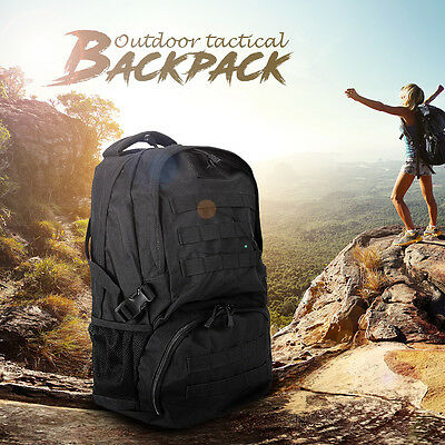 Military Tactical Backpack BAG Rucksack 40L Camping Traveling Hiking Pouch Black