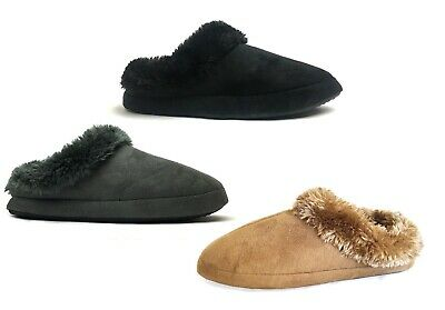 WHOLESALE LOT Women House Slipper Rubber Bottom Faux Fur Shoe 36 pairs-305