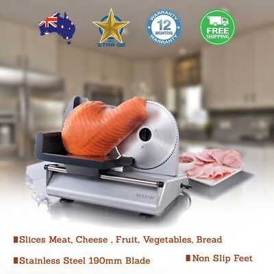 Meat Slicer Deli Quality Slices Meat Cheese  Fruit Vegetables Bread Electric
