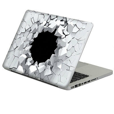 "3D Hole Pattern Vinyl Decal Silver Sticker Skin For 13"" Inch Macbook Laptop"