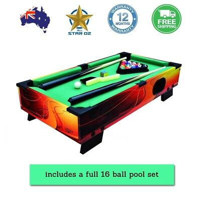Mini Pool Billiards Table Minitaure Portable Bench top Desktop Toy