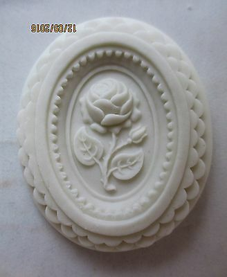 Springerle Speculaas Butter Cookie Paper Casting Stamp Print Press Mold - ROSE