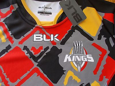 Blk Southern Kings Super Rugby Home Jersey Shirt Mens Size