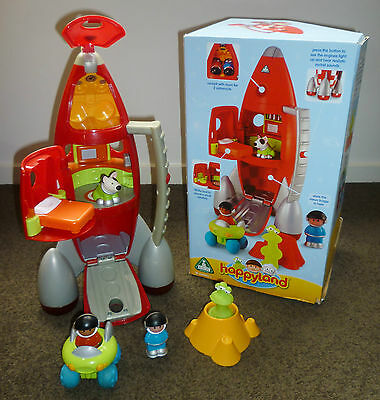 Happyland ELC Rocket with sound Alien Spacemen Space Buggy Average Cond.