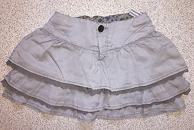 ZARA Girls Pretty Grey Ruffle Skirt Dress Age 9-10
