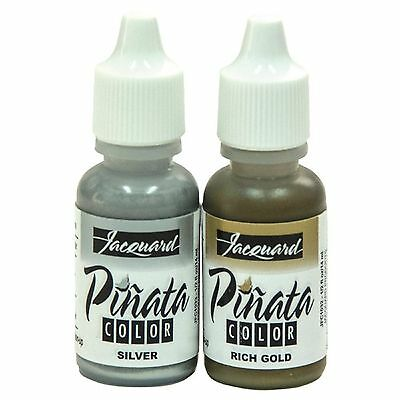 JACQUARD PINATA Alcohol Inks - GOLD & SILVER -  1 of each - 14ml