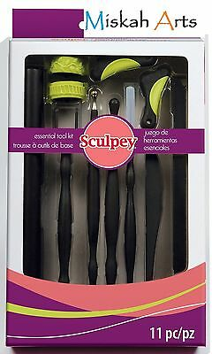 Sculpey Essentials Tool Kit - Polymer Clay Tools - 11 Piece Kit