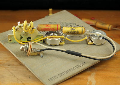 """TELECASTER 1953-65 """"Dark Circuit"""" pre-wired Kit Harness Tele wiring Artys"""