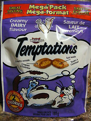 TEMPTATIONS CREAMY DAIRY FLAVOUR -  MEGA Pack - Great tasting - 12 Packages