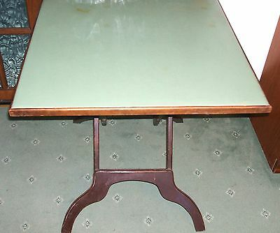 """Vintage Folding Card/Campaign Table.30""""square. 27"""" high. by Imp .RATAN Co CANADA"""