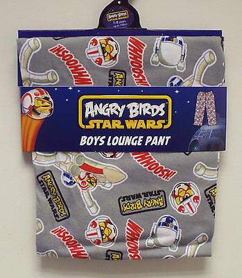 Brand New Boys Star Wars Angry Birds Lounge Pants Pj Bottoms Age 7-8 Years