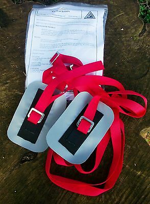 """Anchor Straps Kit + River Bond for Securing 2 x 32"""" Canoe Air Bags"""