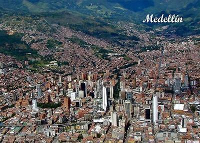 Colombia Medellin Aerial View New Postcard