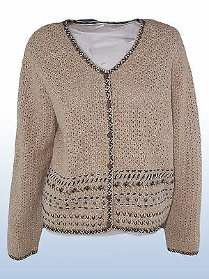 Cardigan Donna Beige Vintage Anni 80 Paul Harris Design Tg M Medium