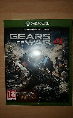 Gears of War 4 (Microsoft Xbox One, 2016) and full game codes for 4 gears games