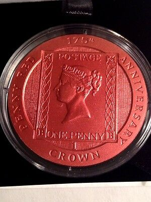 ONE PENNY RED - 2016 Ascension Island Colorized Copper CuNi Stamp Coin BOX & COA