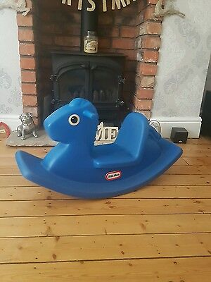 New Little Tikes Blue Rocking Horse