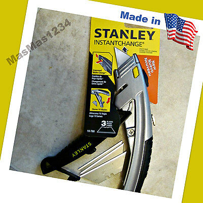 STANLEY Retractable Utility Knife 10-788 Instant Change - NEW - FAST Shipping