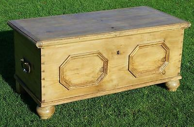 Antique Geerman Stripped Pine Trunk, Box, Chest, Coffer. Coffee Table