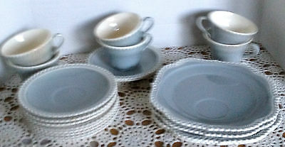 Vintage Harker Pottery Chesterton Gray Dishes Nice Condition, 19 pieces