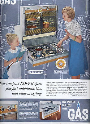 1963 American gas Association with Roper stove  ad (#5692)