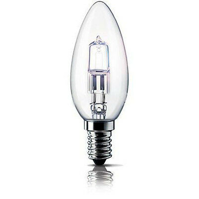 E14 230V 28W=36W candle halogen light bulb Energy saving clear SES